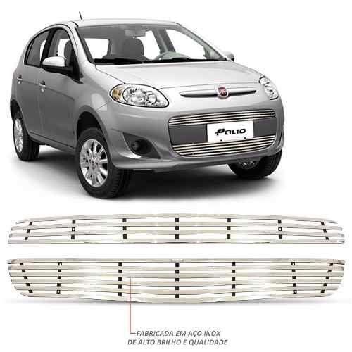 Sobre Grade Fiat Palio 2013 A 2016 Cromada Aço Inox Elite
