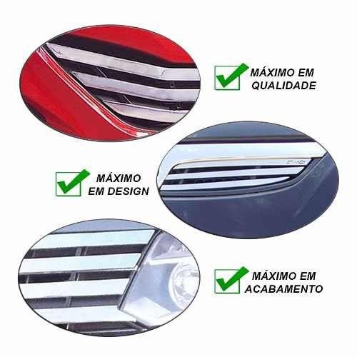 Sobre Grade Renault Clio 2013 A 2016 Cromada Aço Inox Slim