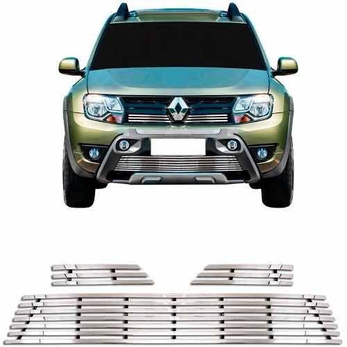 Sobre Grade Renault Duster Oroch 2016 A 2019 Cromada Aço Inox Elite