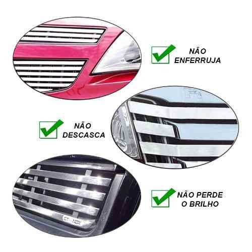 Sobre Grade Chevrolet S-10 S10 2012 A 2016 Cromada Aço Inox Elite