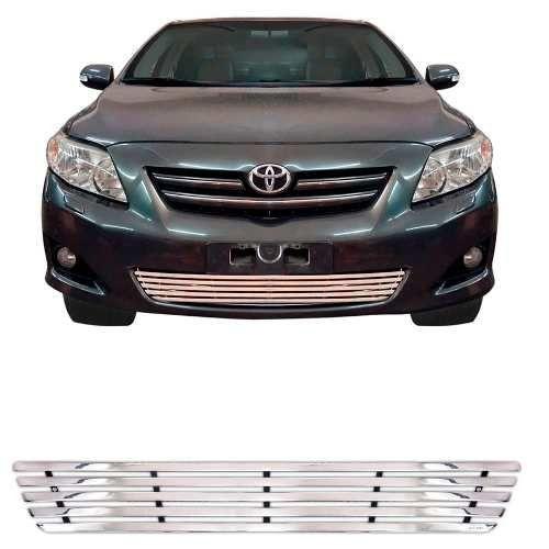 Sobre Grade Toyota Corolla Altis Xei 2009 A 2013 Cromada Aço Inox Elite