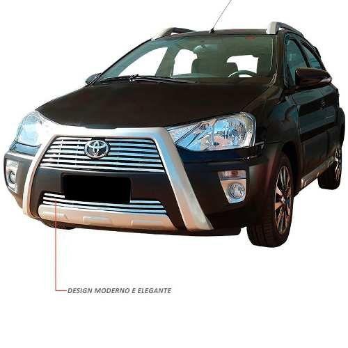 Sobre Grade Toyota Etios Cross 2013 A 2016 Cromada Aço Inox
