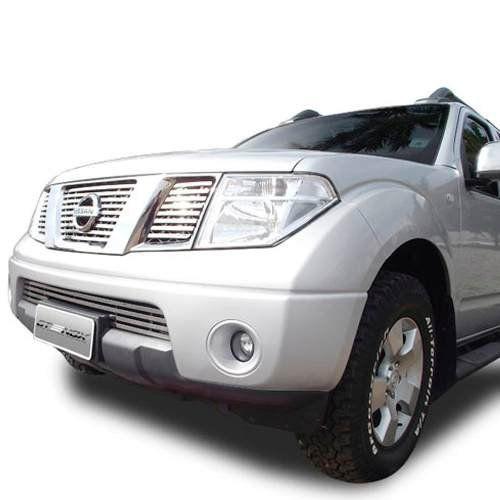 Sobre Grade Nissan Frontier SEL 2008 A 2012 Cromada Aço Inox Elite