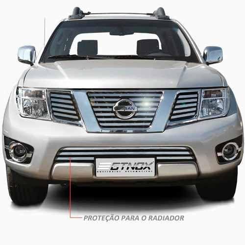 Sobre Grade Nissan Frontier 2013 2014 2015 Cromada Aço Inox Max