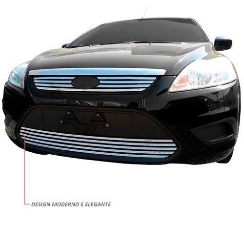 Sobre Grade Ford Focus 2009 A 2013 Cromada Aço Inox Slim