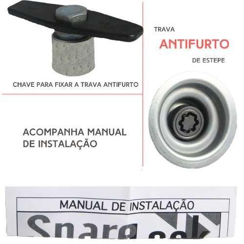 Trava Antifurto Anti Roubo Estepe Toyota Hilux Sw4 2005 a 2017 Rodas 16 e 17 pol Sparelock Com Mais de 10.000 Segredos