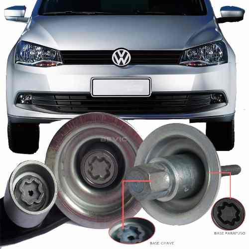 Trava Antifurto Anti Roubo Estepe Volkswagen Voyage 2008 Em Diante Sparelock Com Mais de 10.000 Segredos