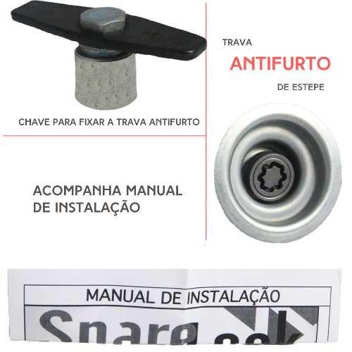 Trava Antifurto Anti Roubo Estepe Chevrolet Onix 2010 Em Diante Sparelock Com Mais de 10.000 Segredos