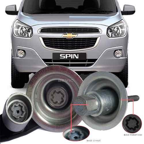 Trava Antifurto Anti Roubo Estepe Chevrolet Spin 2012 Em Diante Sparelock Com Mais de 10.000 Segredos