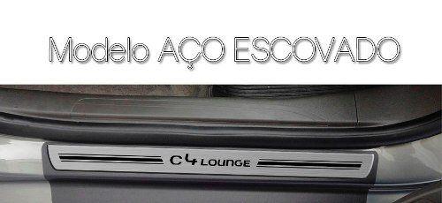 Soleira Resinada Premium Citroen C4 Lounge 2013 14 15 16 17 18 8 Peças