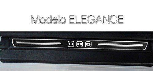Soleira Resinada Premium Fiat Uno 2012 13 14 15 16 17 18 8 Peças