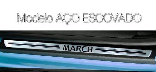Soleira Resinada Premium Nissan March 2011 12 13 14 15 16 17 8 Peças