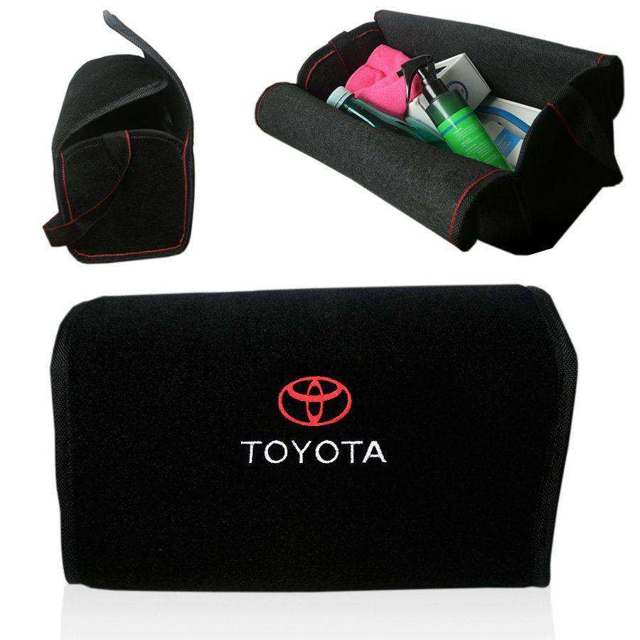 Bolsa Organizadora Porta Mala Tevic Toyota Com Velcro Fixador 14 Litros
