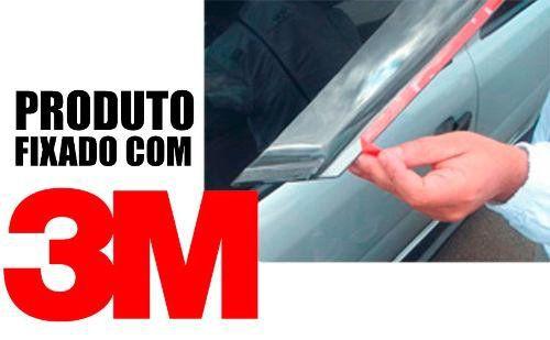 Calha de Chuva Esportiva Ford Courier 1997 Até 2013 Fumê