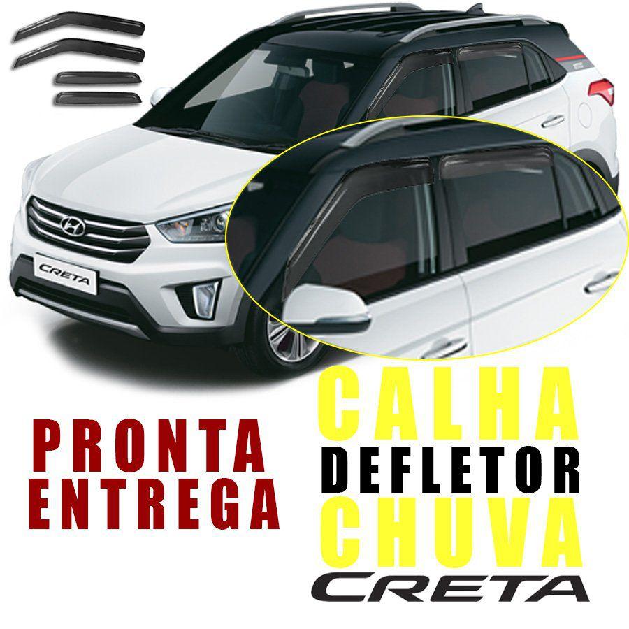 Calha de Chuva Esportiva Hyundai Creta 2017 18 19 Fumê
