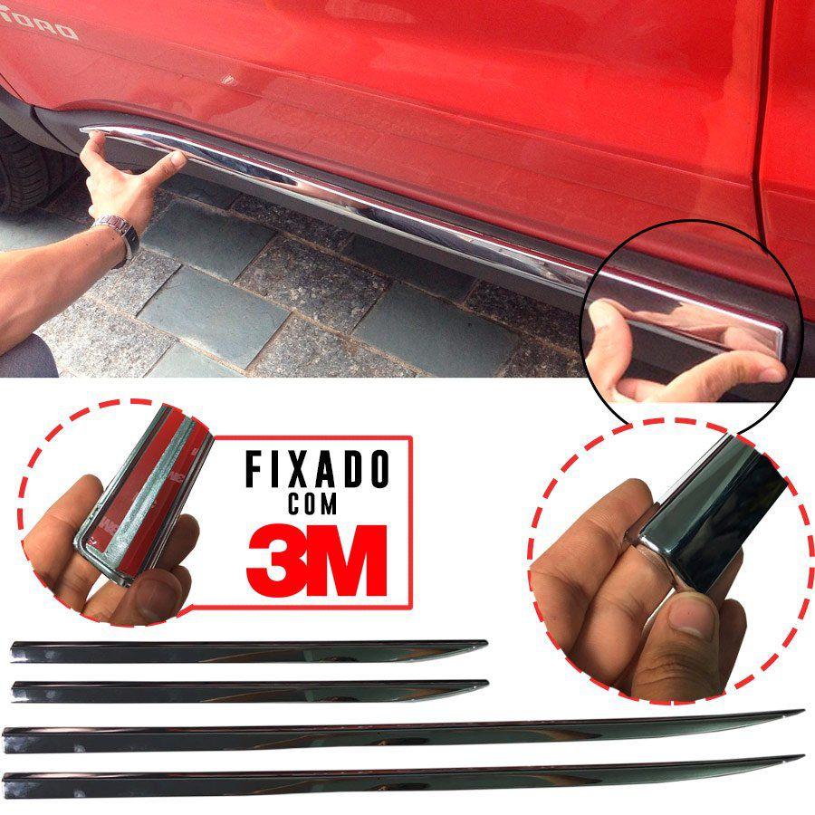 Friso Cromado Inferior Fiat Toro 2017 18 19 Tipo Modelo Top de Linha