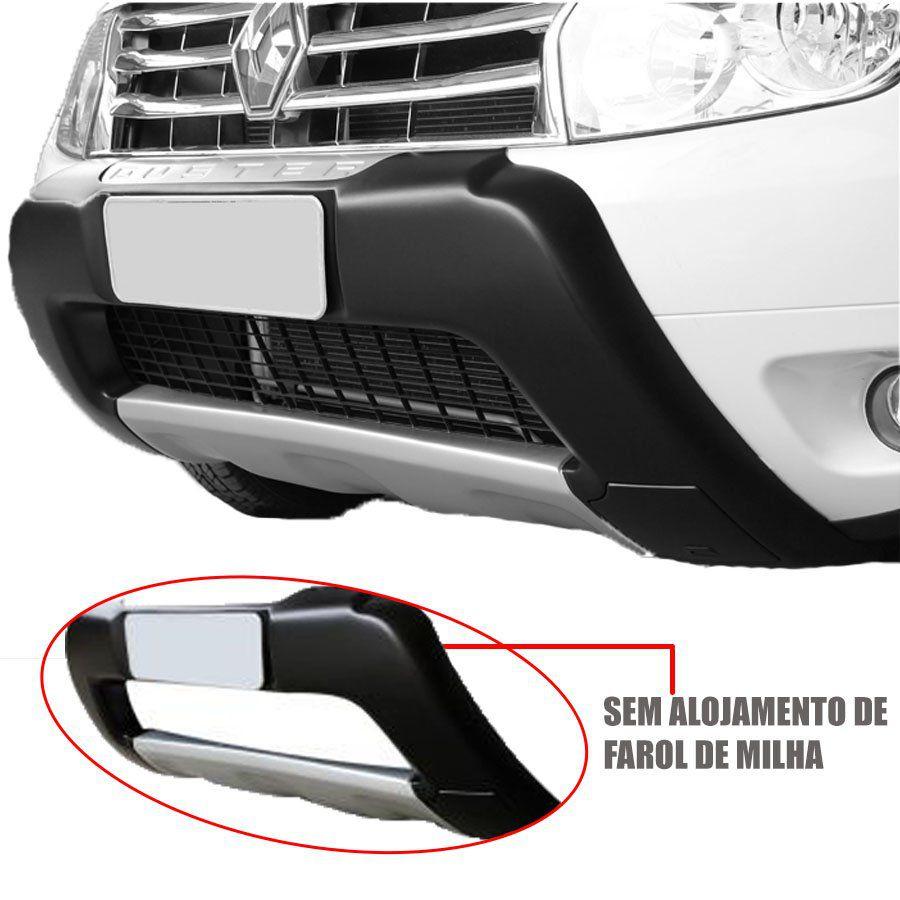 Kit Aventura Renault Duster 2012 13 14 15 Overbumper Bumper Front Bumper Cinza Sem Alojamento de Farol de Milha