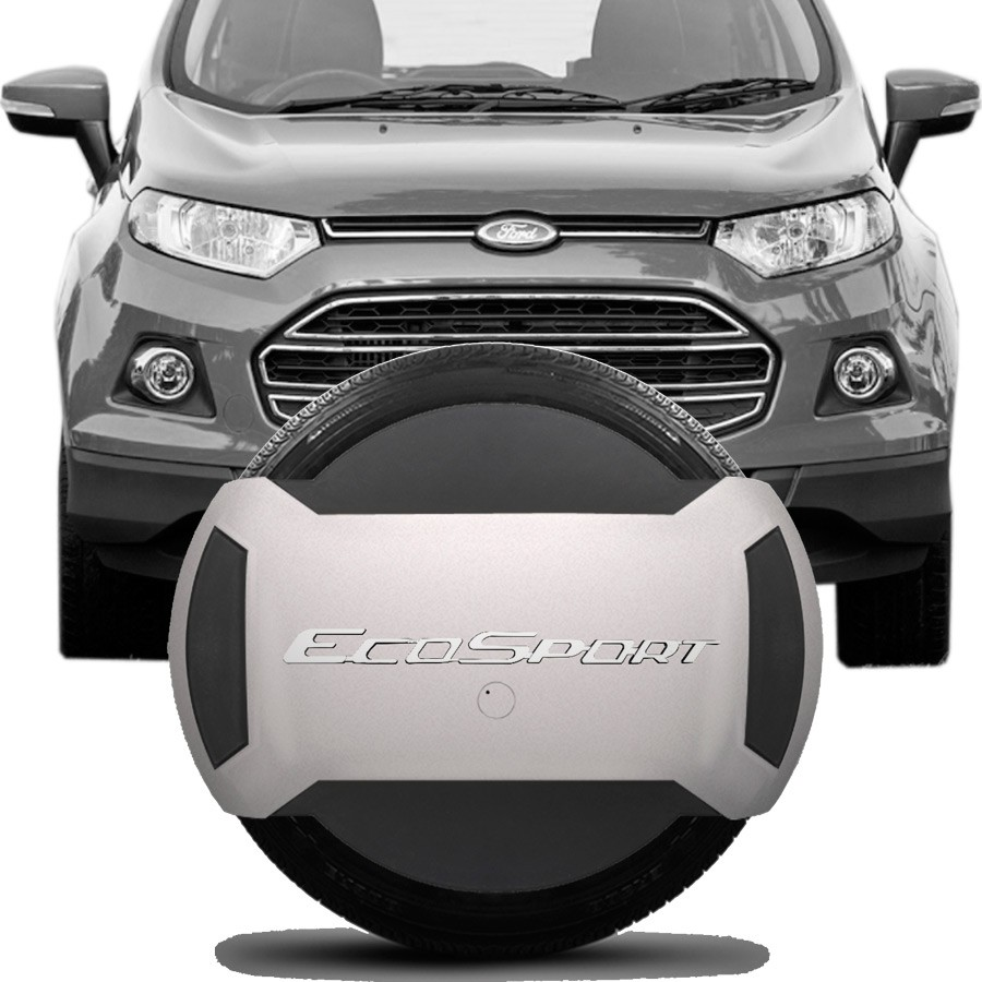 Capa de Estepe Rígida Parcial Ford Ecosport 2013 14 15 16 17 18 Branco Ártico