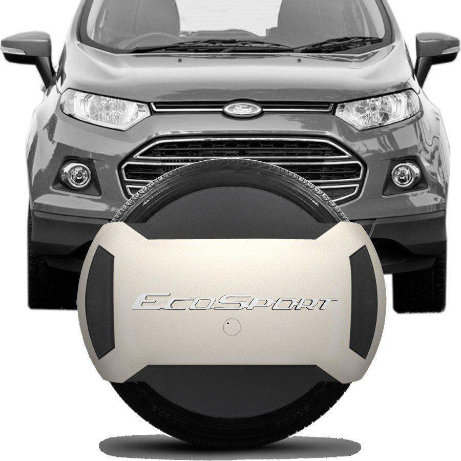 Capa de Espete Rígida Parcial Ford Ecosport 2013 14 15 16 17 18 Branco Vanila