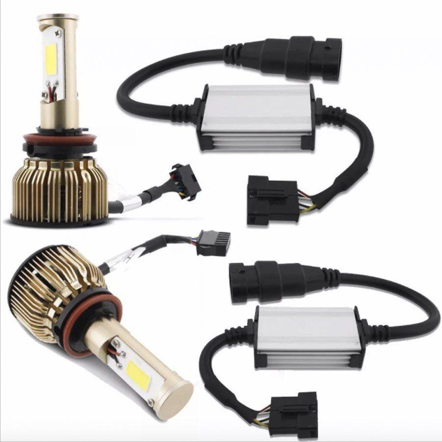 Kit Xenon Lampada Ultra Led H11 35W C/ Cooler Canceler Canbus