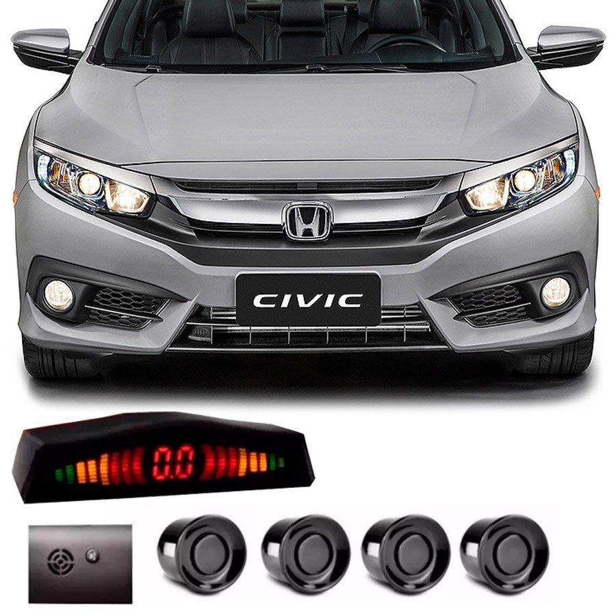 Sensor de Estacionamento 4 Pontos Honda Civic Geração 10 com Alerta Sonoro