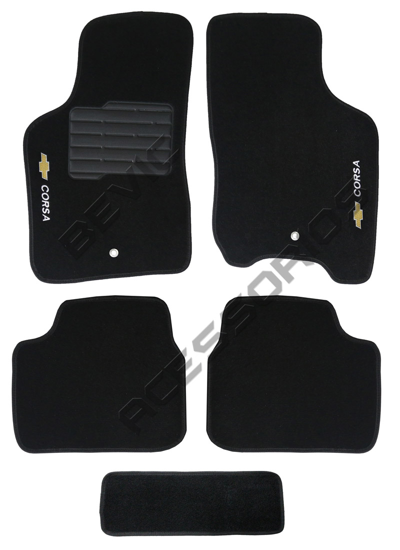Tapete Carpete Tevic Chevrolet Corsa Hatch Sedan 2002 Em Diante