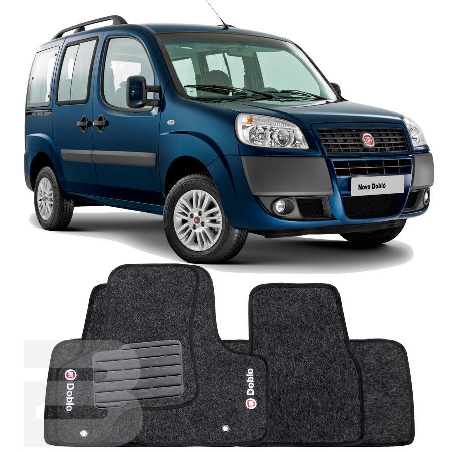 Tapete Carpete Tevic Fiat Doblo 2001 Até 2009 5 Peças