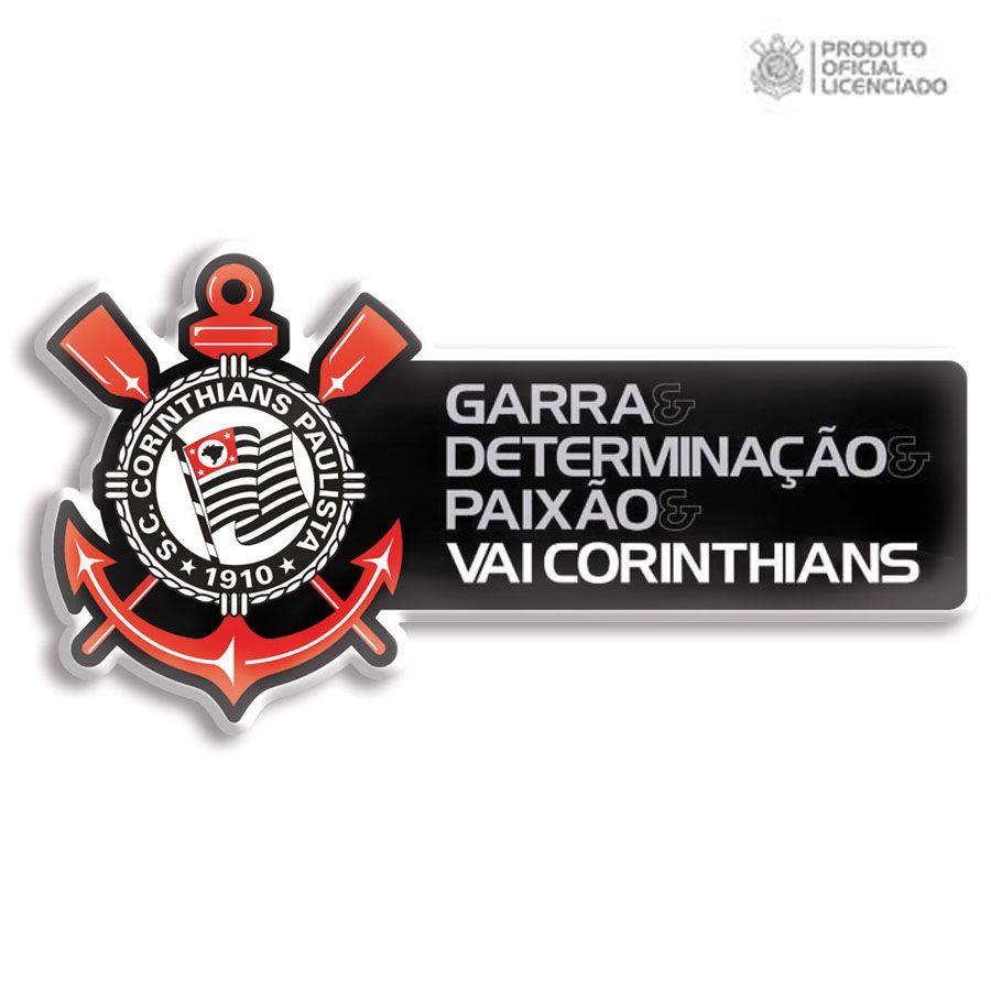 70097821ea Adesivo Licenciado Corinthians Garra e Determinação