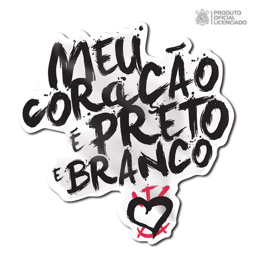 Adesivo Licenciado Corinthians Meu Coração é Preto e Branco fcc84407d3279