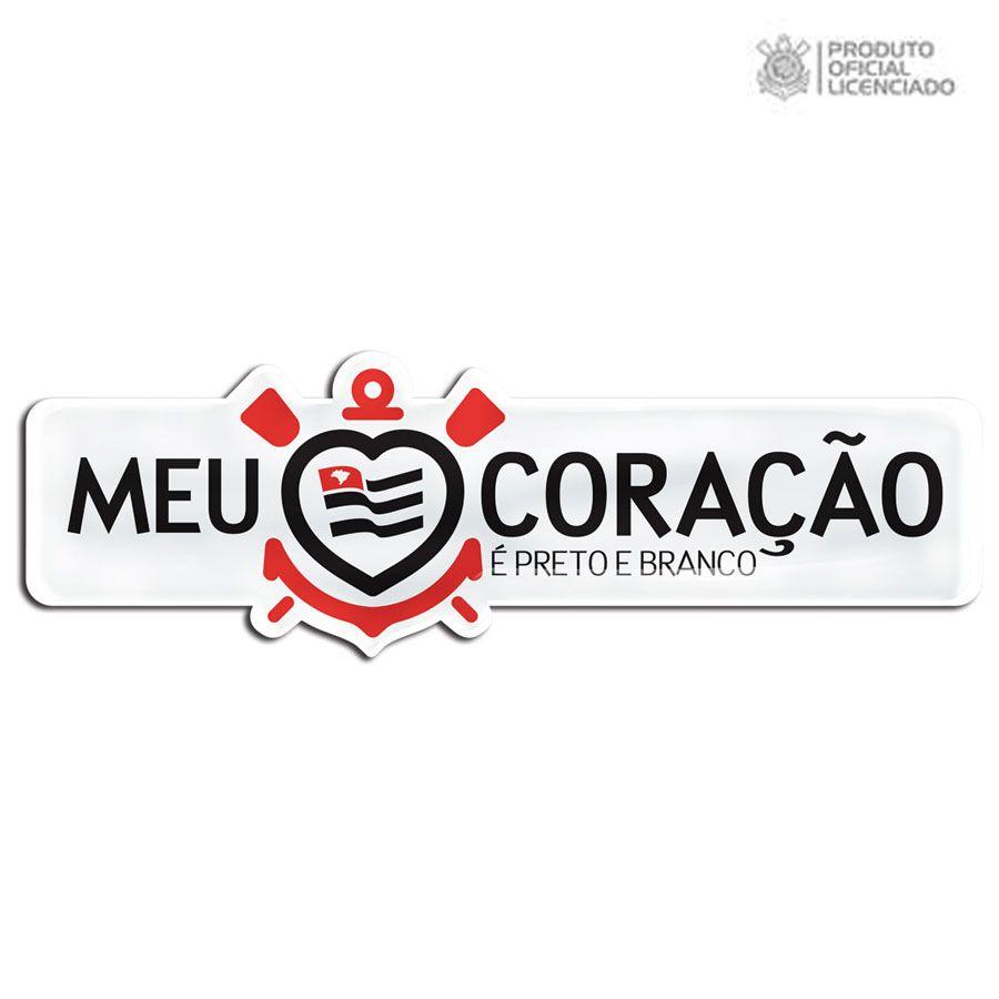 0ade1888ce Adesivo Licenciado Corinthians Meu Coração é Preto e Branco