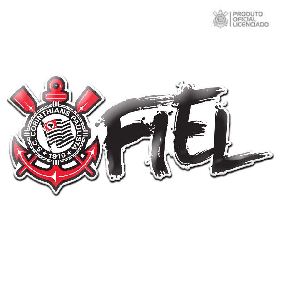 30cb99c50a Adesivo Licenciado Corinthians Torcida Fiel Oficial
