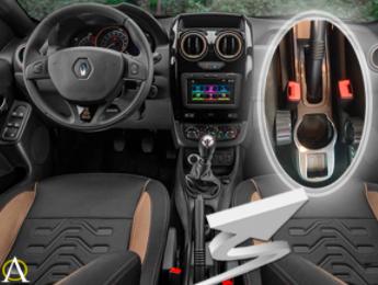 Apoio de Braço Central Com Porta Objetos Renault Duster 2016 17 18 19
