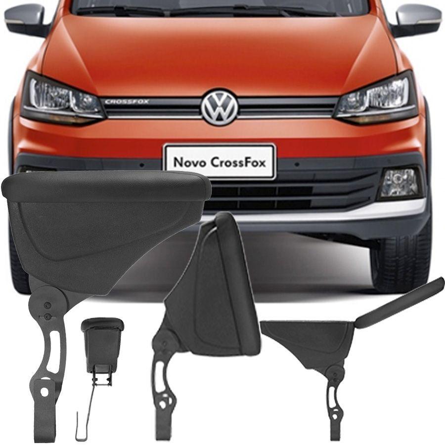 Apoio Descansa Braço Com Porta Objetos Rebatível Volkswagen Crossfox 2004 Até 2017