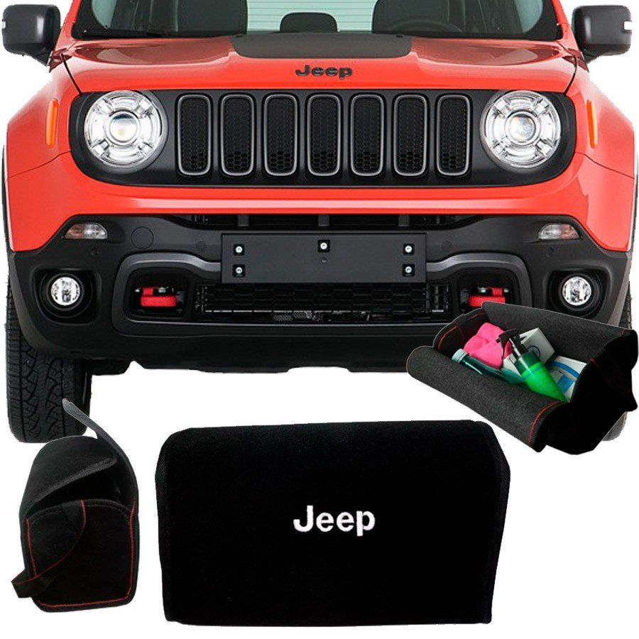 Bolsa Organizadora Porta Mala Tevic Jeep Renegade C/ Velcro Para Fixação
