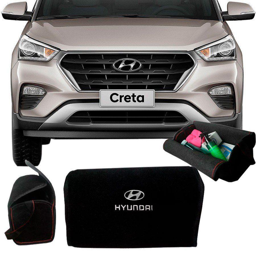 Bolsa Organizadora Porta Mala Tevic Hyundai Creta Com Velcro Fixador 14 Litros