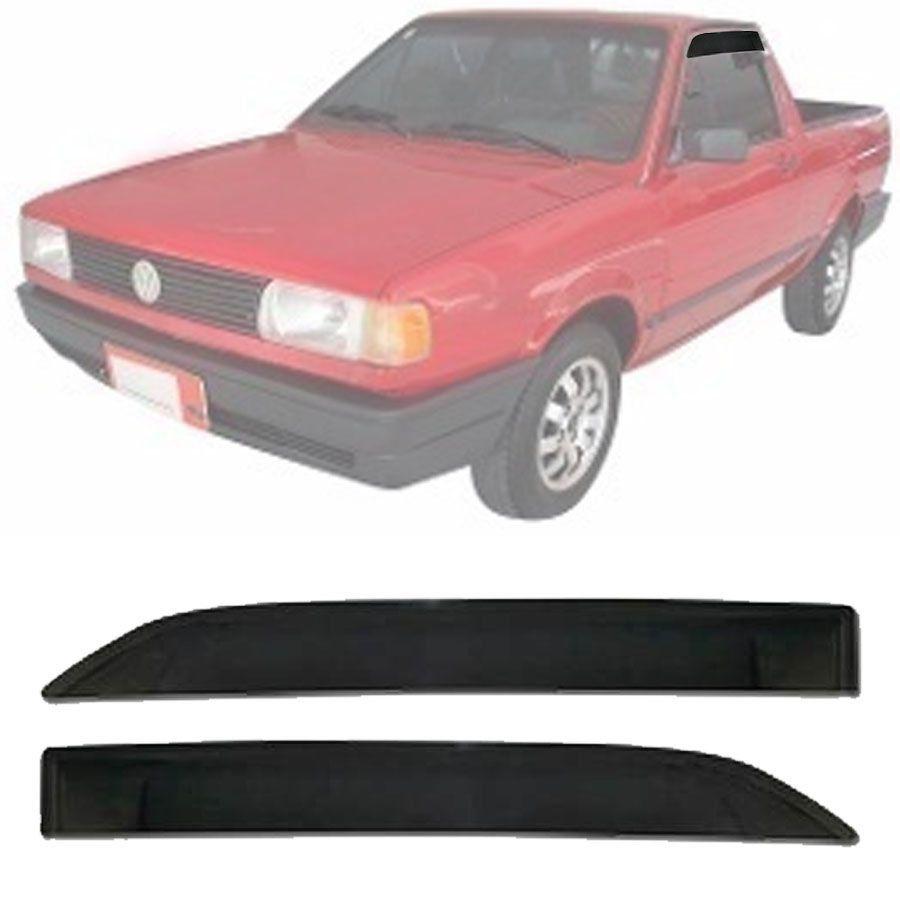 Calha de Chuva Esportiva Volkswagen Saveiro 1987 88 89 90 91 92 93 94 Fumê