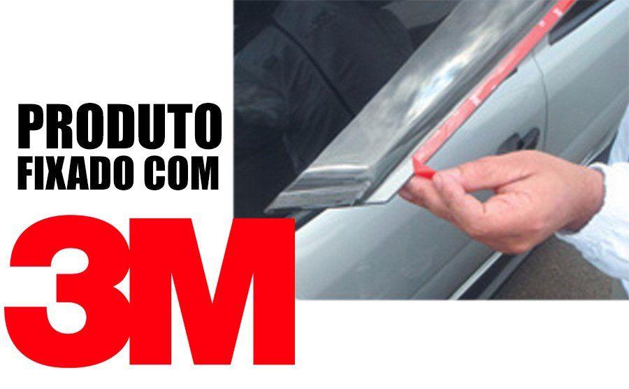 Calha de Chuva Esportiva Fiat Cronos 2018 Em Diante Fumê