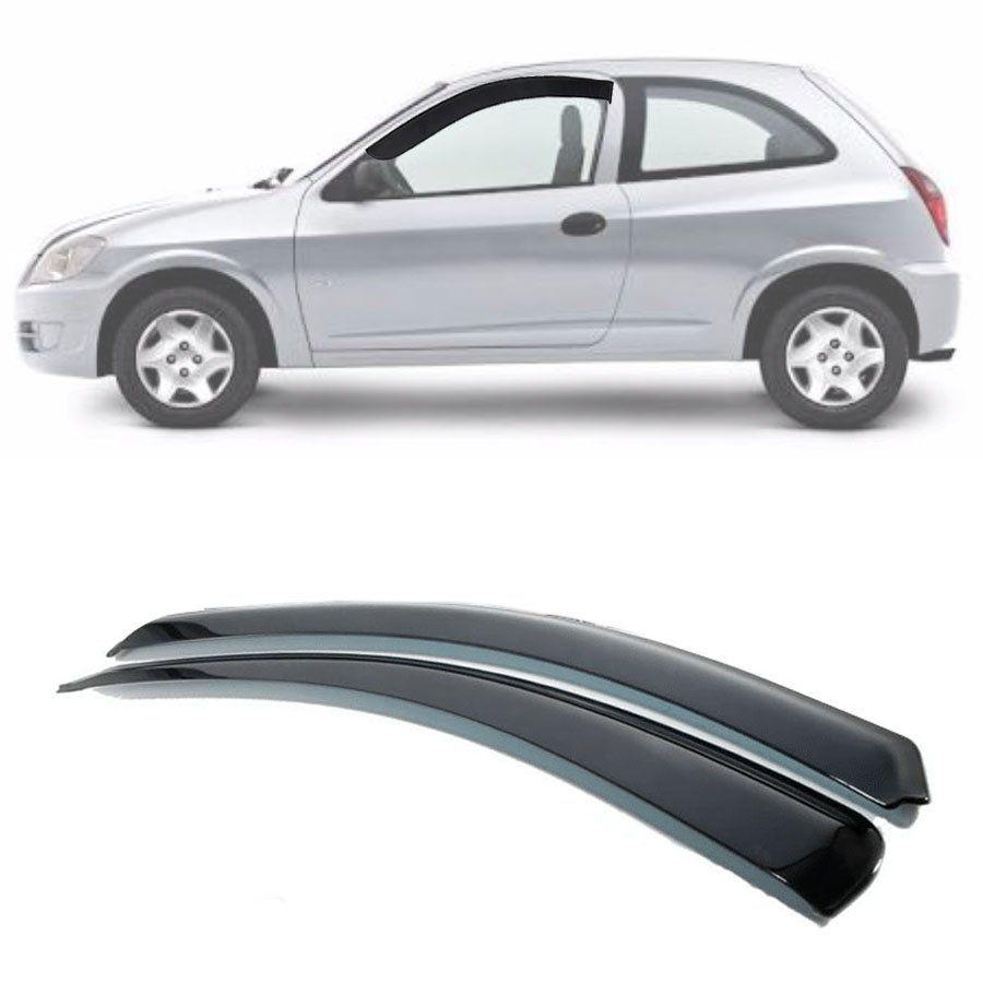 Calha de Chuva Esportiva Chevrolet Celta 2000 Até 2015 2 Portas Fumê Tg Poli