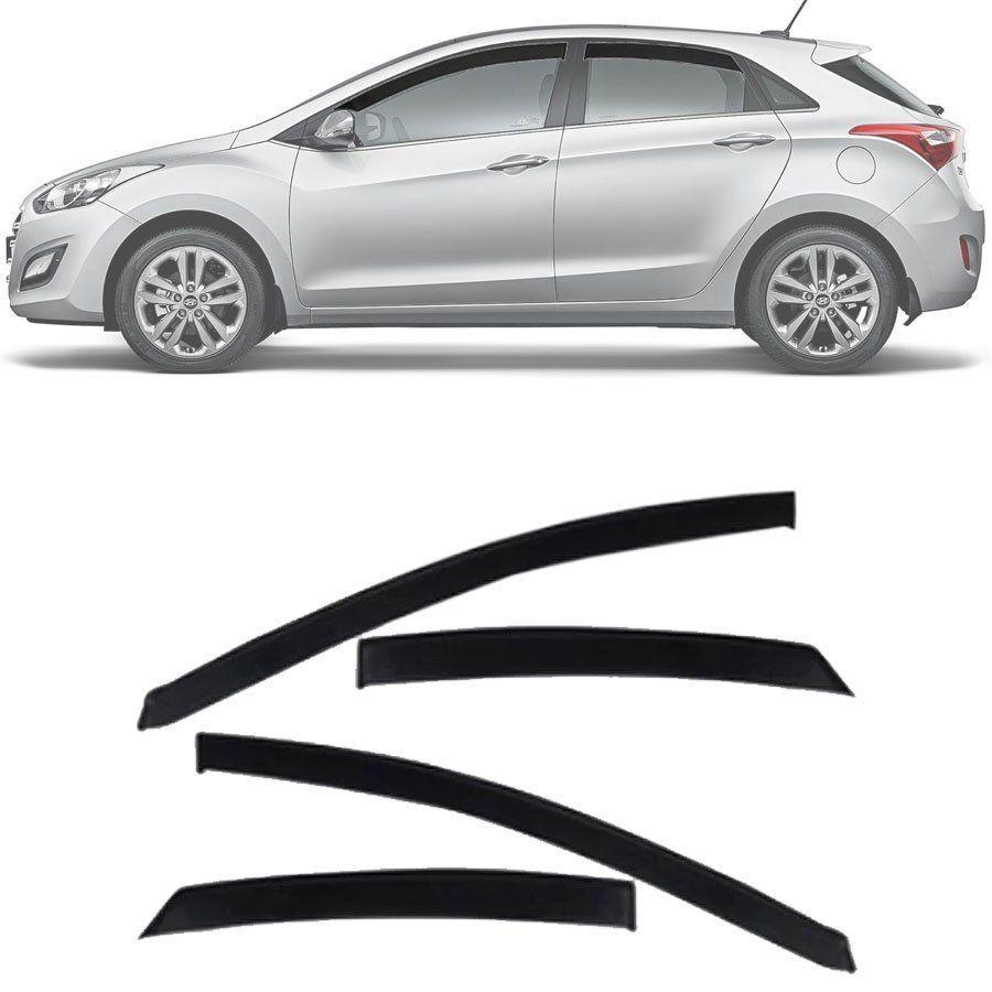 Calha de Chuva Esportiva Hyundai I30 2013 14 15 16 17 Fumê Tg Poli