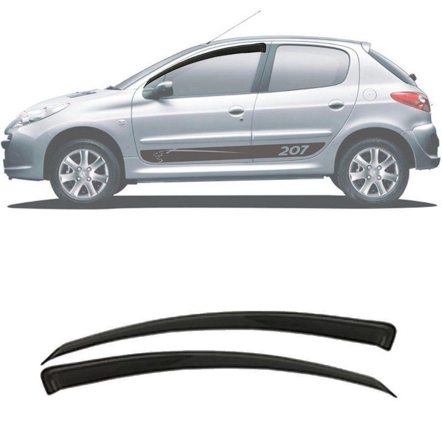Calha de Chuva Esportiva Peugeot 206 / 207 2000 Até 2014 2 Portas Fumê Tg Poli