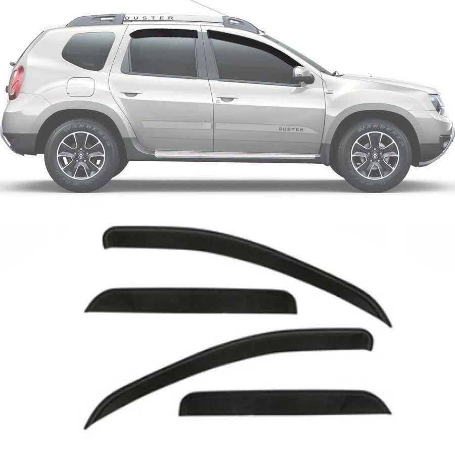 Calha de Chuva Esportiva Renault Duster 2011 12 13 14 15 16 17 18 Fumê Tg Poli