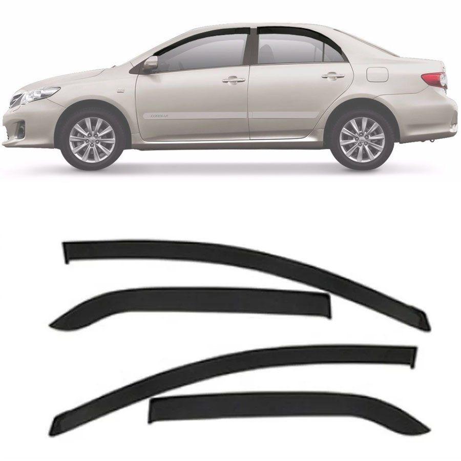 Calha de Chuva Esportiva Toyota Corolla 2008 Até 2014 Fumê Tg Poli