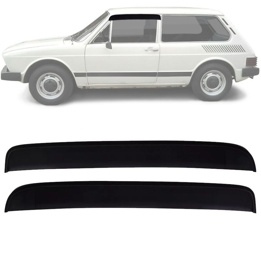 Calha de Chuva Esportiva Volkswagen Brasilia 1973 Até 1982 Fumê
