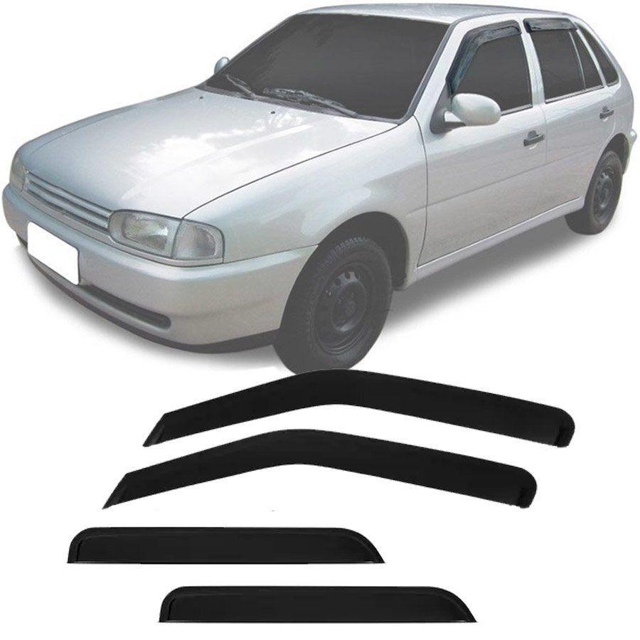 Calha de Chuva Esportiva Volkswagen Parati / Gol G2 G3 G4 1995 Até 2011 4 Portas Fumê Tg Poli