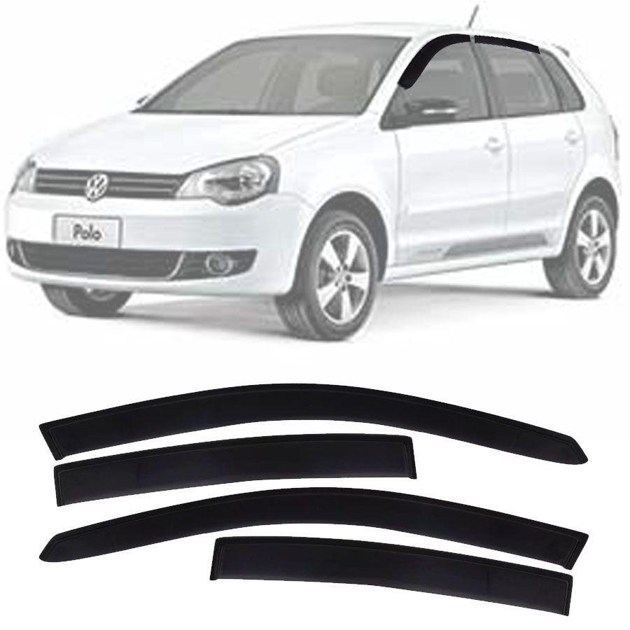 Calha de Chuva Esportiva Volkswagen Polo Hatch 2002 Até 2016 Fumê