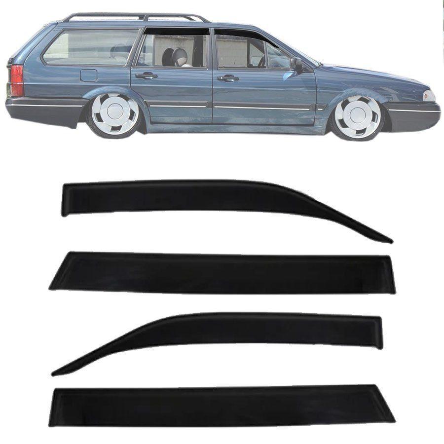 Calha de Chuva Esportiva Volkswagen Santana Quantum 1992 93 94 95 96 97 98 (Com Quebra Vento) Fumê Tg Poli