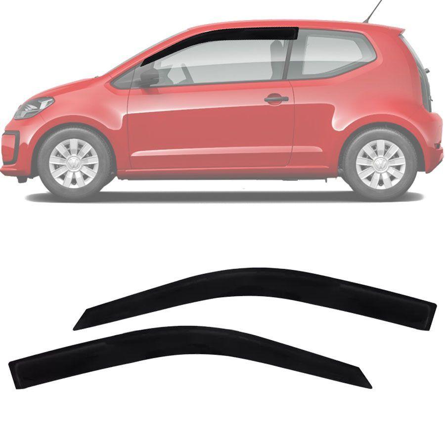 Calha de Chuva Esportiva Volkswagen Up Up! 2014 15 16 17 18 2 Portas Fumê Tg Poli