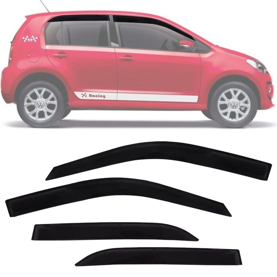 Calha de Chuva Esportiva Volkswagen Up Up! 2014 15 16 17 18 4 Portas Fumê Tg Poli