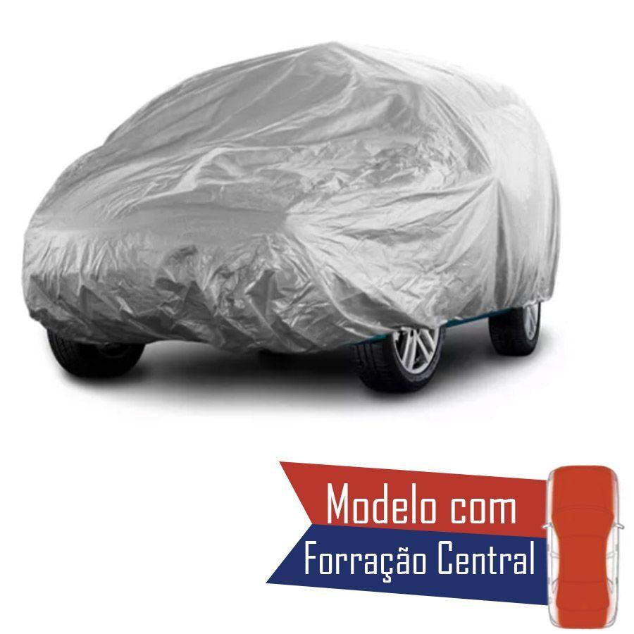 Capa Protetora para Cobrir Carro 100% Impermeável com Forro Central e Elástico Tamanho M Cor Cinza