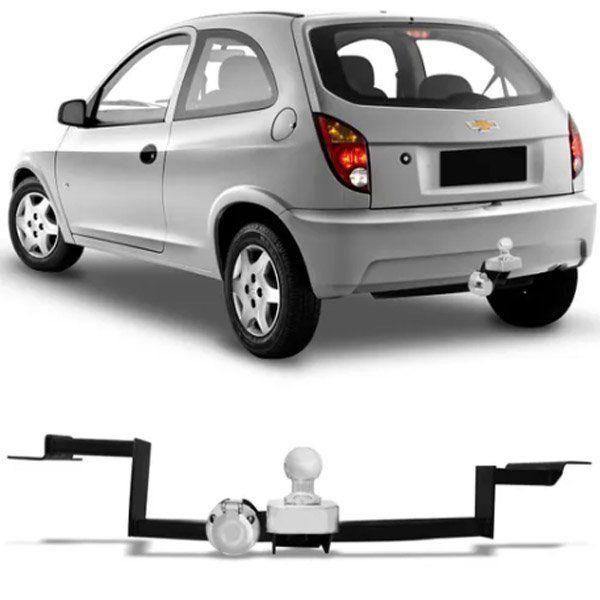 Engate Para Reboque Rabicho Chevrolet Celta 2000 Até 2015 e Corsa Wind Super 1994 Até 2000 Tração 400Kg InMetro
